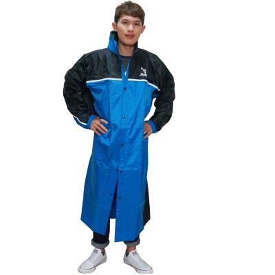 JUMP精緻前開雨衣-藍色