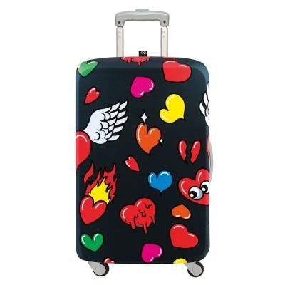 LOQI 行李箱套 - 愛心M號 (適用22-27吋行李箱保護套)