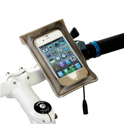 PUSH! 自行車用品IPHONE4/4S專用TPU全防水觸控手機袋