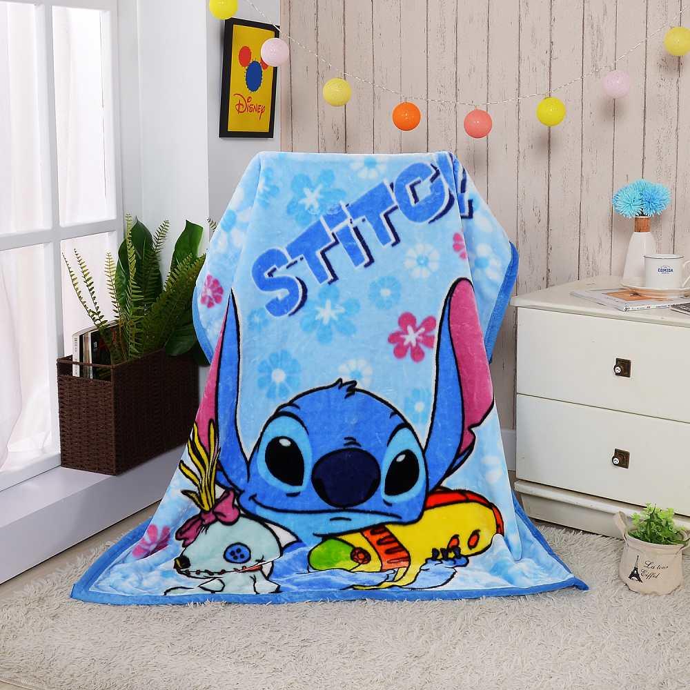 Disney史迪與你 頂級加厚法蘭絨休閒毯