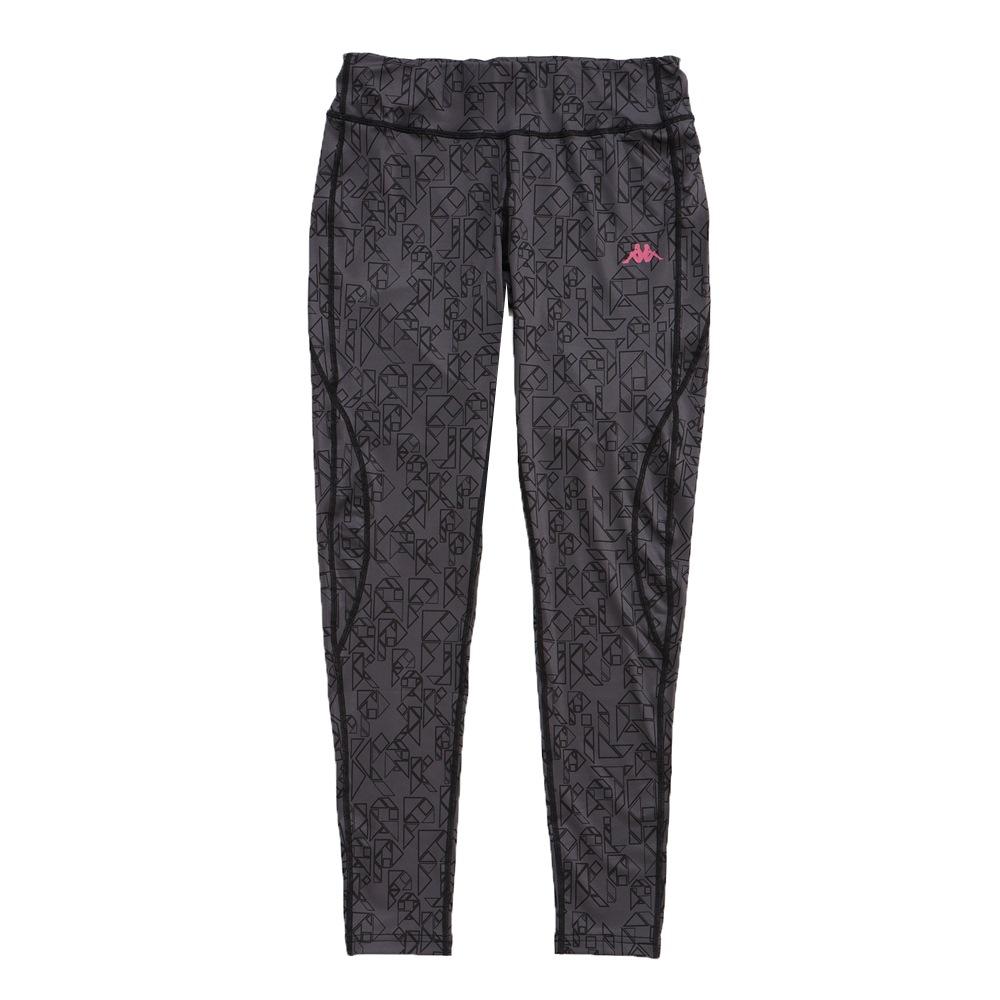 KAPPA義大利 舒適尚女針織九分慢跑緊身褲(合身尺寸)1件 深灰