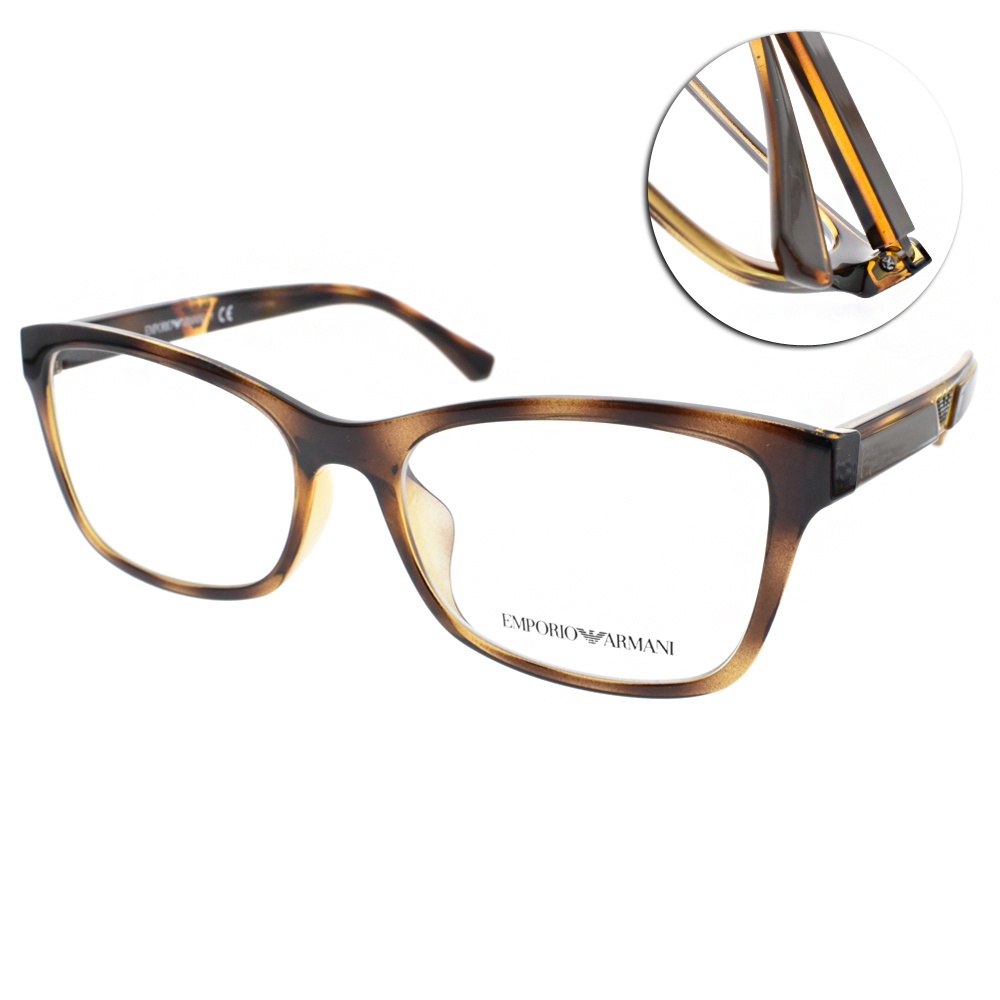 EMPORIO ARMANI光學眼鏡 簡約時尚/琥珀#EA3128F 5026