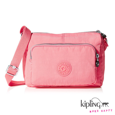 Kipling-斜背包-貝殼粉素面