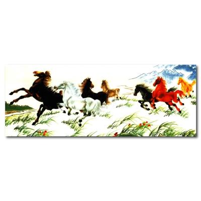 24mama掛畫 - 單聯無框圖畫藝術家飾品掛畫油畫-馬來福氣-30x80cm