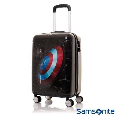 Samsonite新秀麗-20吋Marvel漫威英雄3D立體TSA登機箱-美國隊長