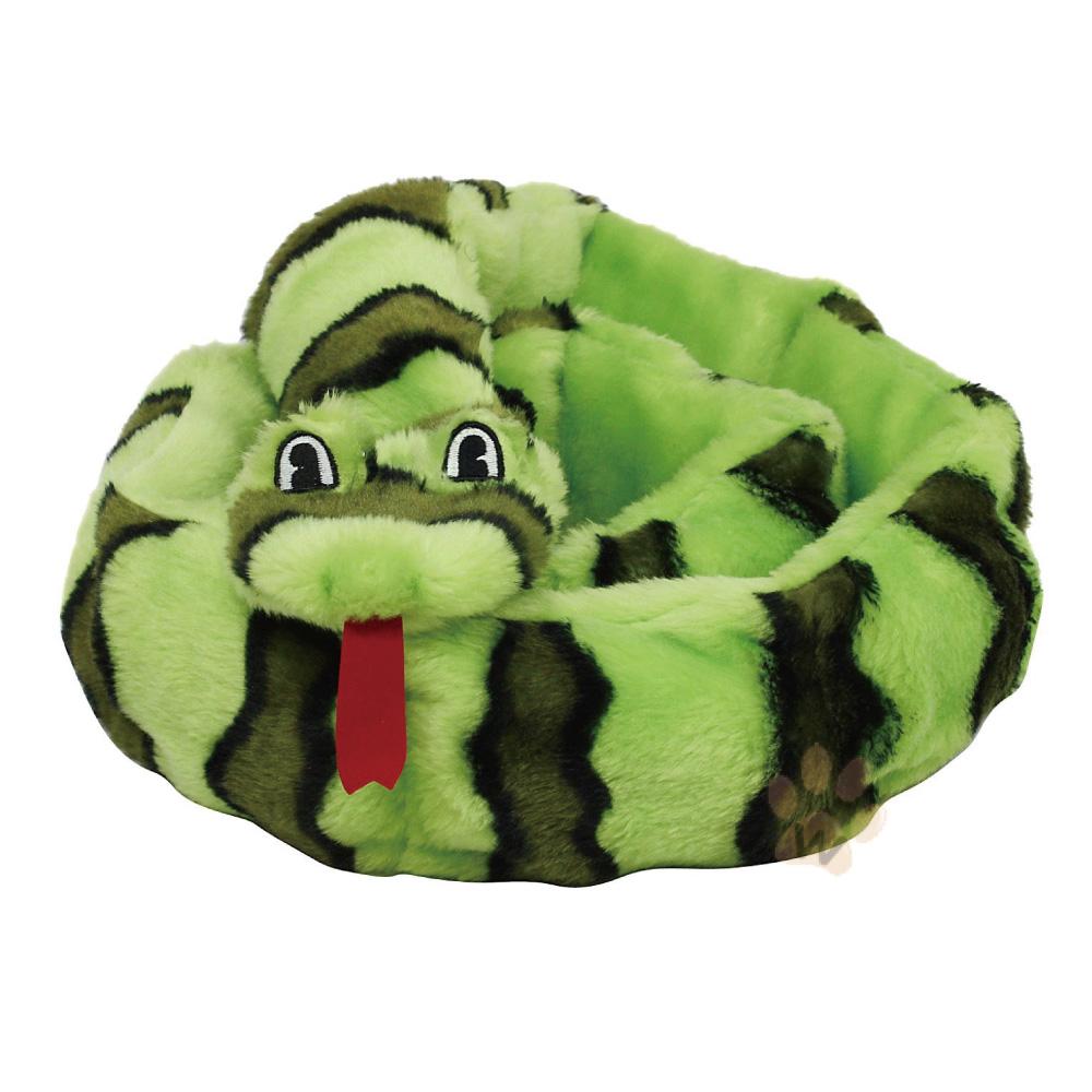 美國KYJEN  逼逼貪食蛇潔齒互動狗玩具綠色M號 1入