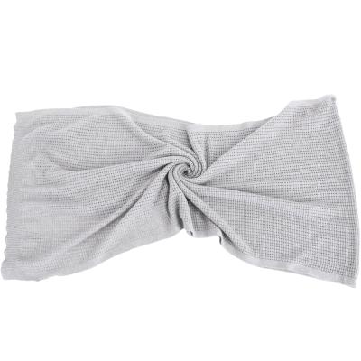 FABIANA FILIPPI 灰色洞洞織紋喀什米爾羊毛絲綢圍巾