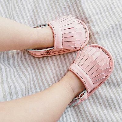 Baby unicorn 粉紅雙層流蘇嬰兒涼鞋