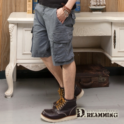 Dreamming 日系街頭新色棉質休閒工作短褲-共三色