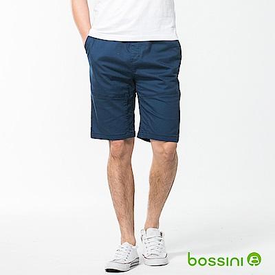 bossini男裝-素色卡其短褲02海軍藍