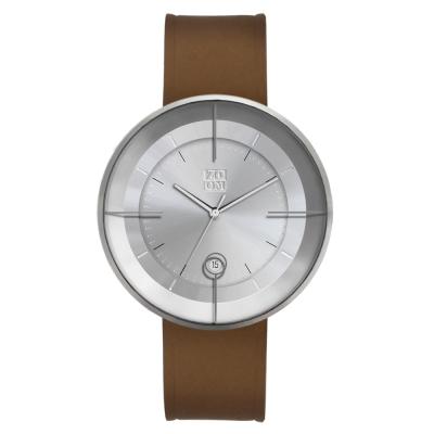 ZOOM-FLOATING 光燦美學超薄腕錶-銀/43mm