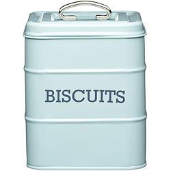KitchenCraft 復古餅乾密封罐(藍)