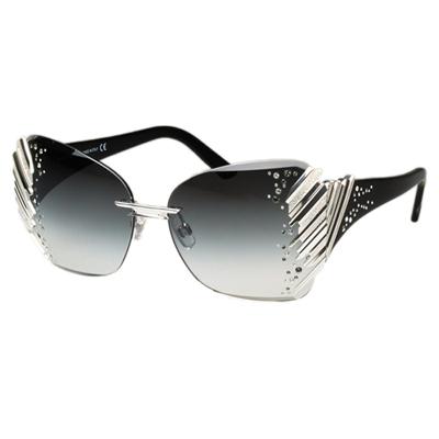 SWAROVSKI-限量豪華-太陽眼鏡-銀色
