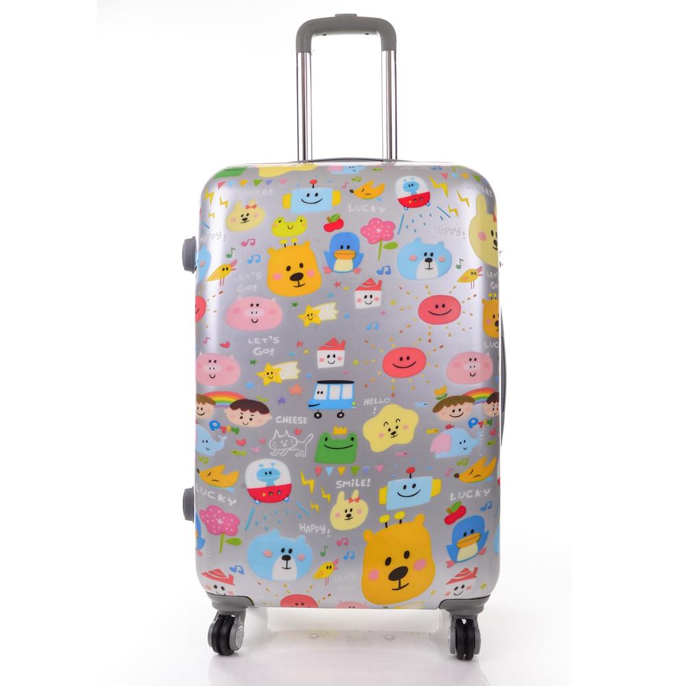 P714 24吋童趣版行李箱銀色