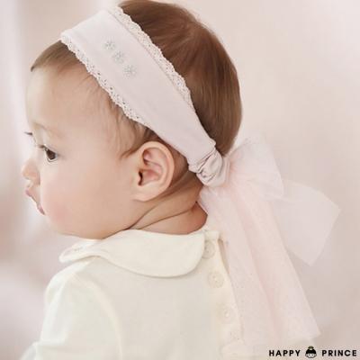韓國 Happy Prince 寬版垂墜雪紡紗蝴蝶結髮帶