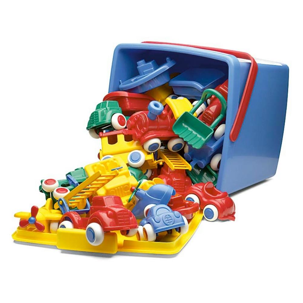 瑞典Viking Toys維京玩具-玩具車桶裝30件組