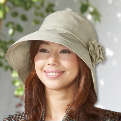 Sunlead-深寬緣馬尾款-防吹落抗UV遮熱兩用式可折邊防曬遮陽帽-淺褐色