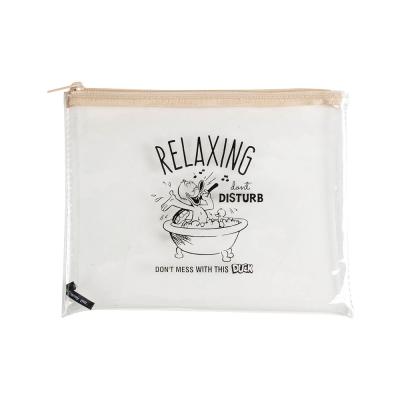 Marimo  迪士尼唐老鴨透明PVC收納袋(快樂洗澡)
