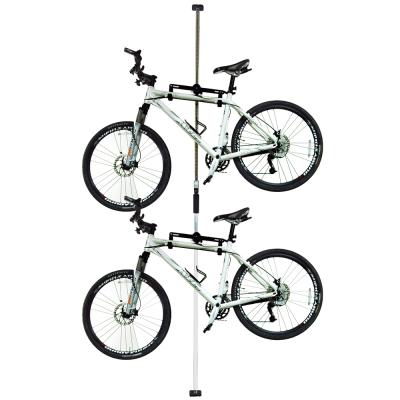 台灣製造  第二代頂天立地自行車立車架 車桿 吊車柱 停車架 (白)