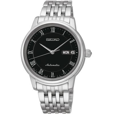 SEIKO Presage 經典時刻4R36機械女錶(SRP885J1)-黑/34mm