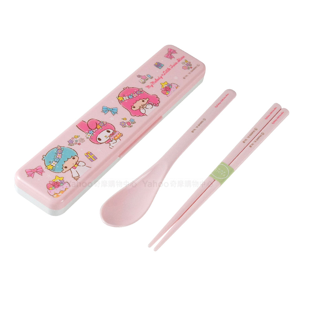 Skater湯匙筷子組(附盒) 美樂蒂雙子星聯名款