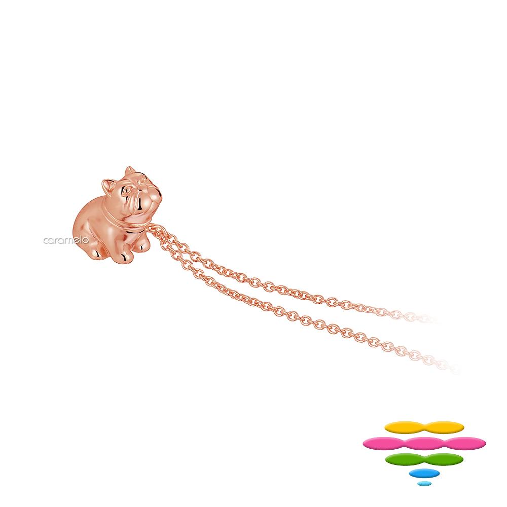 彩糖鑽工坊 Bulldog法鬥項鍊 玫瑰金項鍊 桃樂絲Doris系列