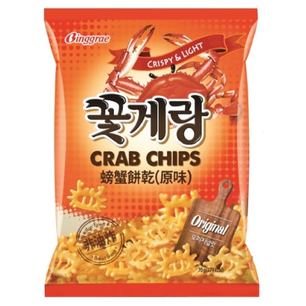 韓味不二 Binggrae螃蟹餅乾-原味(70g)