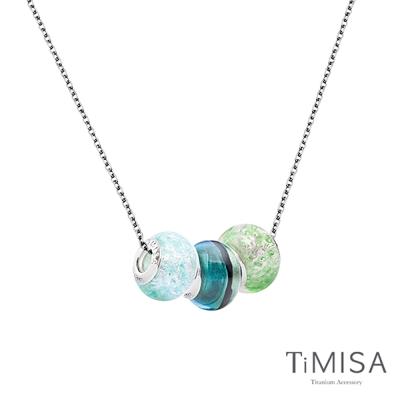 TiMISA 琉璃串珠 純鈦項鍊 (04E) 套組