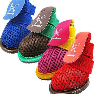 《PEPPETS》 豔彩防護寵物鞋(1)  4款顏色