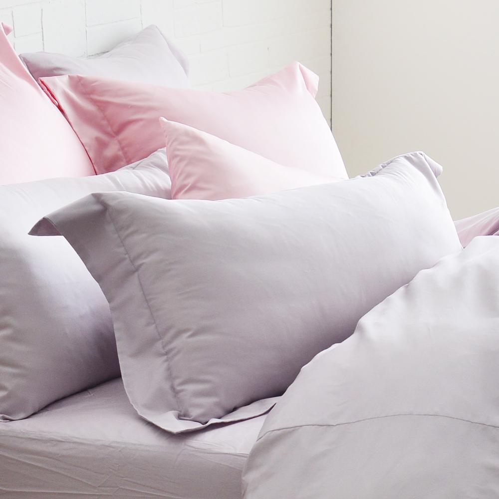 Cozy inn 簡單純色-丁香紫-200織精梳棉枕頭套-2入