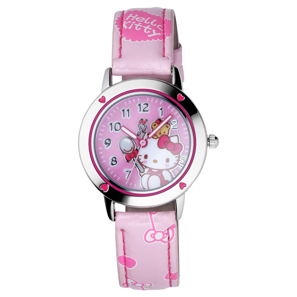 Hello Kitty 心動旋律俏麗腕錶-粉紅/30mm