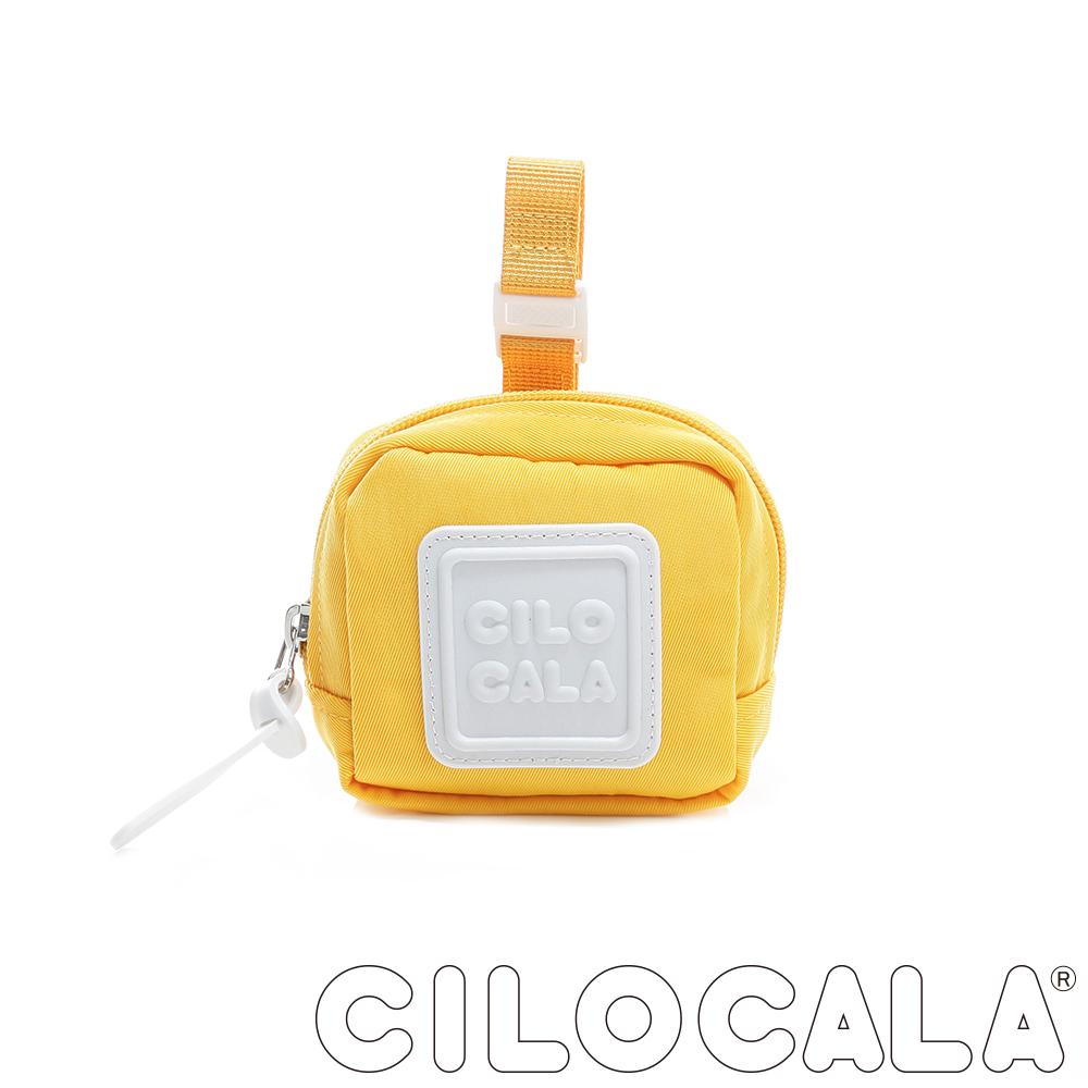 CILOCALA 亮彩尼龍防潑水可扣式零錢包 黃色