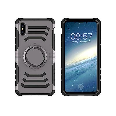 防摔專家 iPhoneX 多功能防震保護殼(送運動臂帶)(灰/銀)
