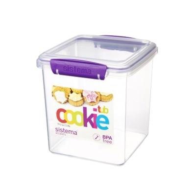 【Sistema】紐西蘭進口特色方型零食收納保鮮盒2.35L