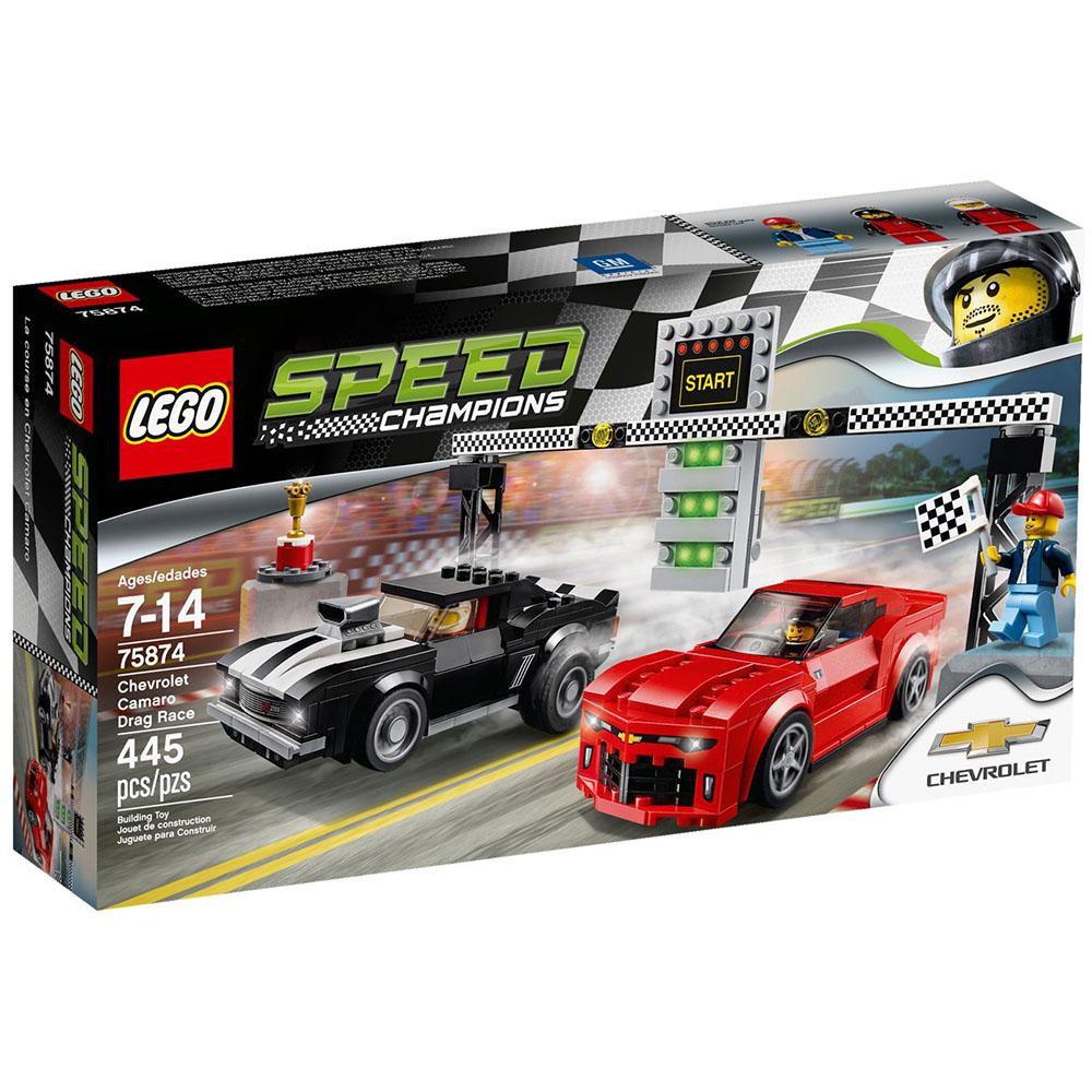 LEGO樂高賽車系列75874雪佛蘭大黃蜂直線加速賽