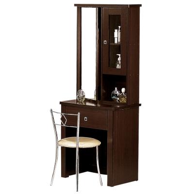 Boden-曼妮2尺胡桃鏡檯 化妝桌椅組