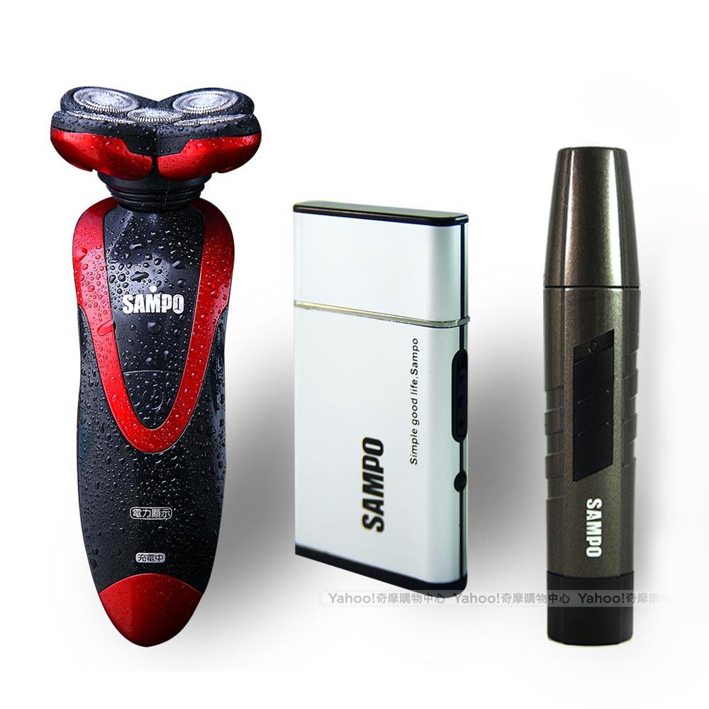 (搶三件組)聲寶紅色五刀頭電動刮鬍刀EA-Z1208WL