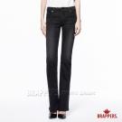 BRAPPERS 女款 新美腳Royal系列-女用中低腰彈性小喇叭褲-黑