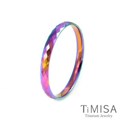 TiMISA 格緻真愛-寬版 (極光) 純鈦手環