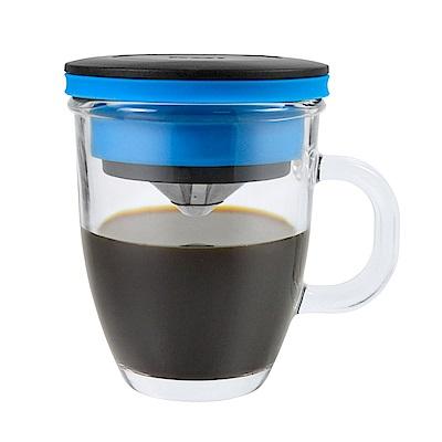 PO不鏽鋼咖啡濾杯馬克組(藍)