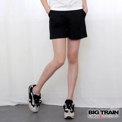 BIG TRAIN 和柄針織女短褲-女-黑