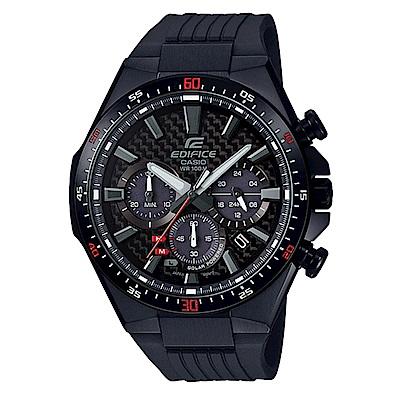 EDIFICE碳纖維3D立體錶盤太陽能計時賽車錶(EQS-800CPB-1)-全黑47