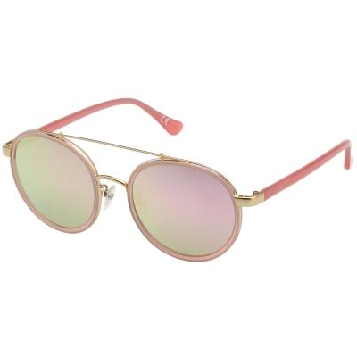 Calvin Klein- 韓版系列 水銀面 太陽眼鏡(粉+金)CK1225SK