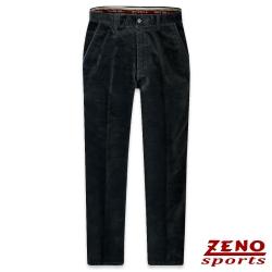 ZENO 彈性保暖斜紋柔絨長褲‧墨綠31-42