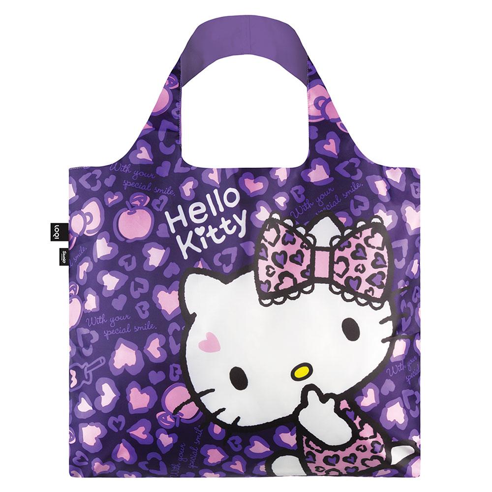 LOQI 春捲包|KITTY豹紋紫 KT07