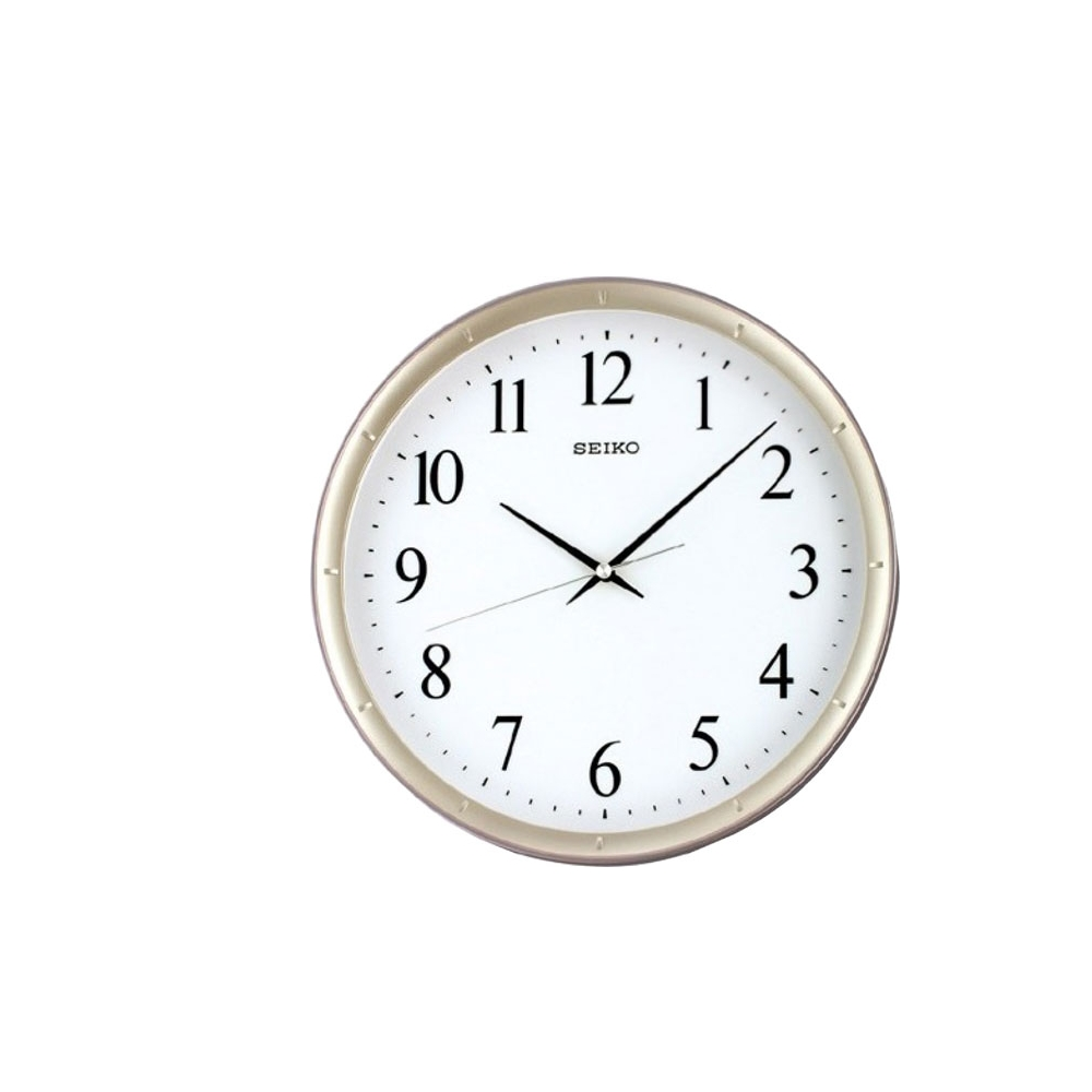 SEIKO 精工 紫羅蘭邊框 滑動式秒針 靜音掛鐘(QXA378Z)-紫/31cm