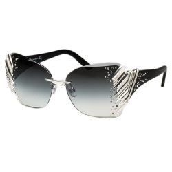 SWAROVSKI太陽眼鏡-限量款-銀色SW74