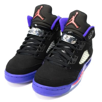 NIKE-AIR JORDAN 5女籃球鞋-黑紫