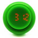 CLICK 復古大圓鍵快打電子腕錶-綠/45mm