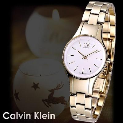【Calvin Klein】Simplicity都會品味仕女錶(金)